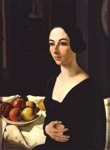 Felice Casorati - Portrait of Hena Rigotti