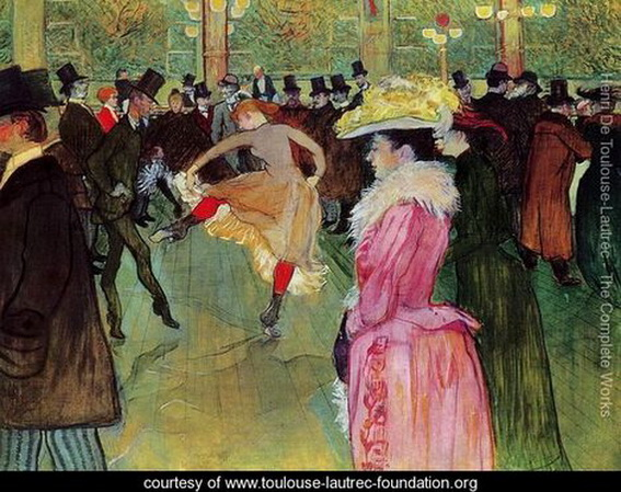 Henri de Toulouse Lautrec Dance-At-The-Moulin-Rouge