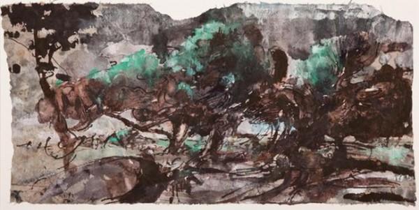 Horst Janssen - Grune Landschaft