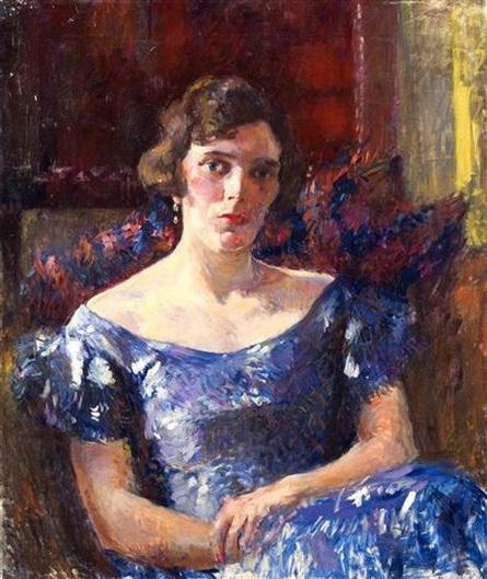 James Bolivar Manson - Portrait einer sitzenden Dame