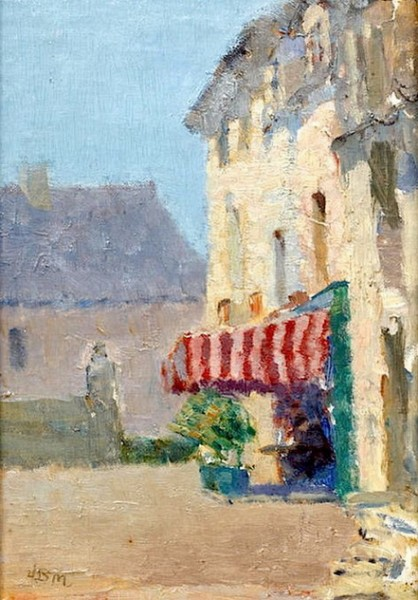 James Bolivar Manson -The red Awning