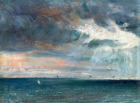 John Constable  - A Storm off the Coast of Brighton