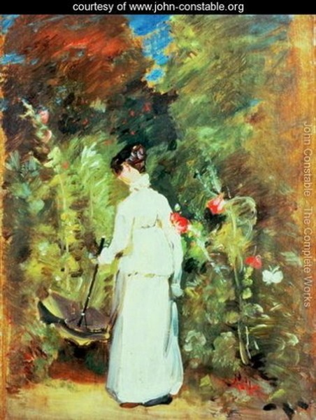 John Constable  - Mrs Constable in her Garden
