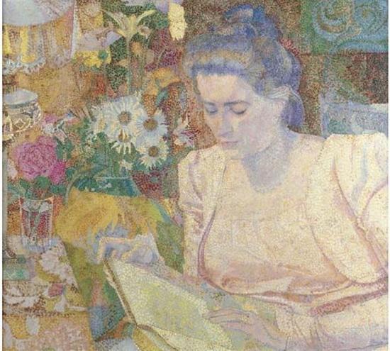 Jan Toorop - Portrait of Mrs M.J. de Lange