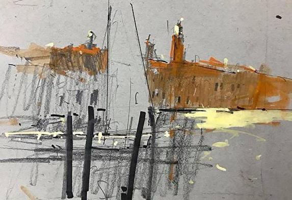 Tony Allain - Sail on Riva Longa Murano