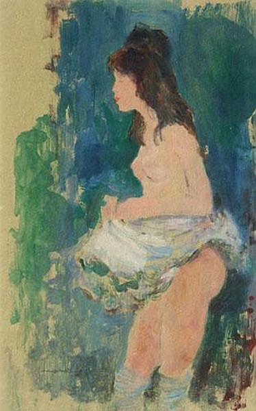 Charles Mozley - Female nude, signed