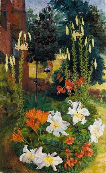 Cedric Morris - Black Lilies