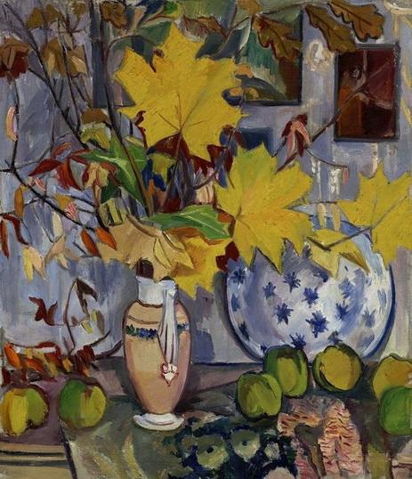Гончарова - Айва и листья клена
