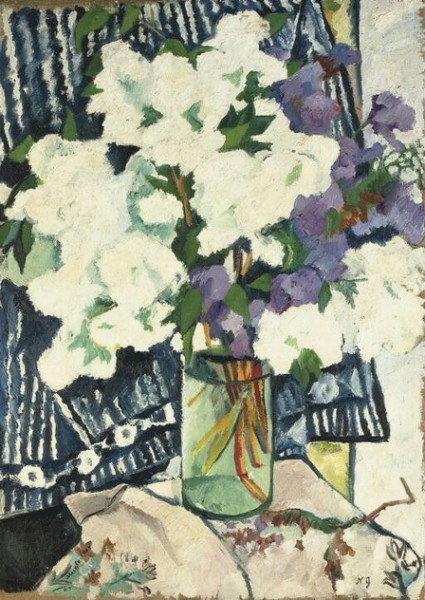 Гончарова - Lilacs in a vase