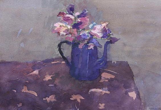 Christa Gaa - Sweet peas in a teapot