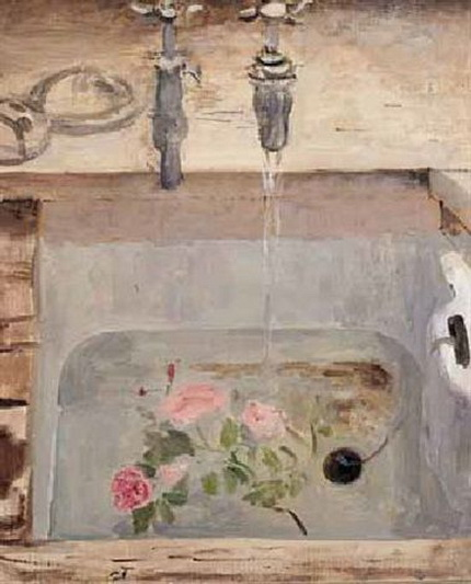 Mary Potter - Flowers in the sink