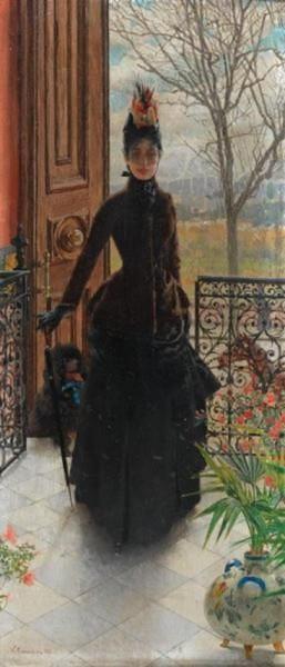 Vittorio Matteo Corcos - An Elegant Lady
