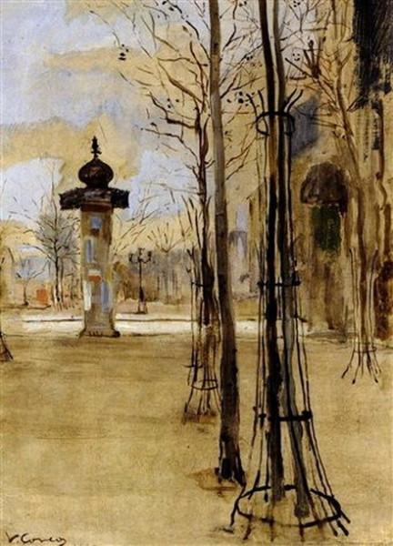Vittorio Matteo Corcos - Piazza di Parigi