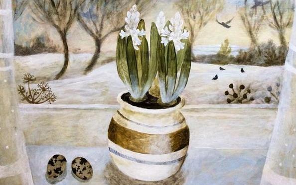 Sarah Bowman - Hyacinth and quails egg