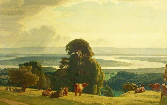Charles March Gere - The Bend of the Severn at Newnham