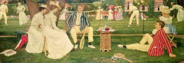 Charles March Gere - The Tennis Party (2)
