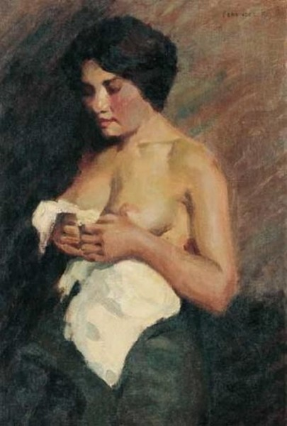 Karoly Ferenczy - Partial nude