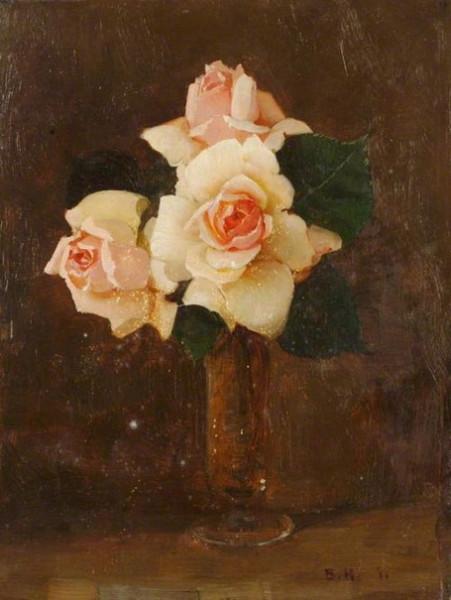 Benjamin Haughton - Vase of Roses
