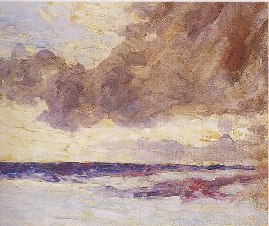 Winston Churchill - Seascape with Rain Clouds