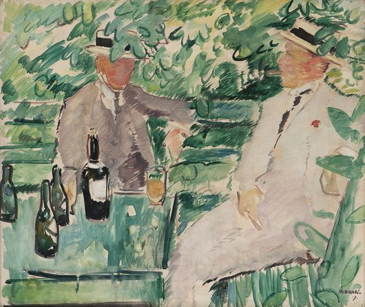 Arne Kavli - Two Men in a Garden