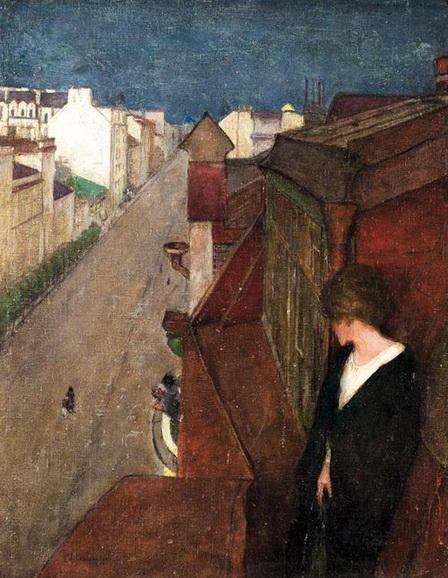 Вахрамеев - Тата на балконе белая ночь