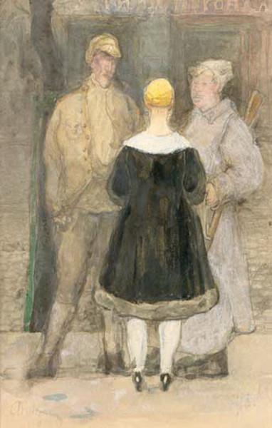 Вахрамеев - Два солдата и девушка