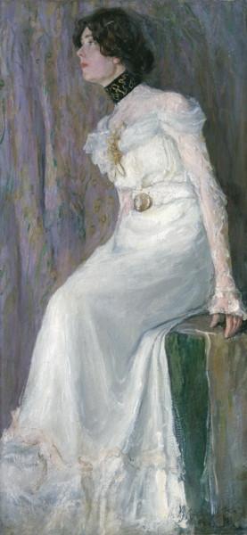 Вахрамеев - Портрет молодой женщины в белом платье