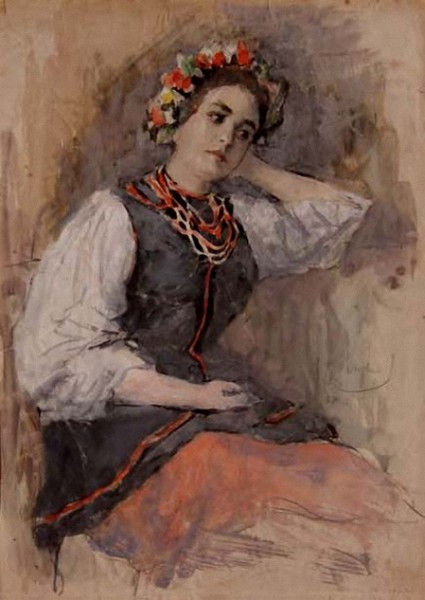 Вахрамеев - Фигура девушки в украинском костюме