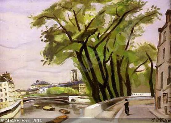 Robert Lotiron -   La Seine vue de l'Ile Saint-Louis