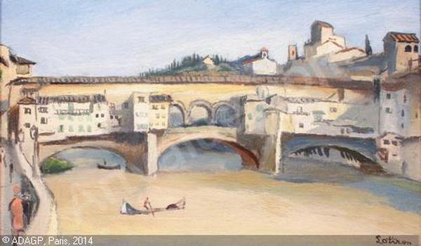 Robert Lotiron -  Florence, le Ponte Vecchio