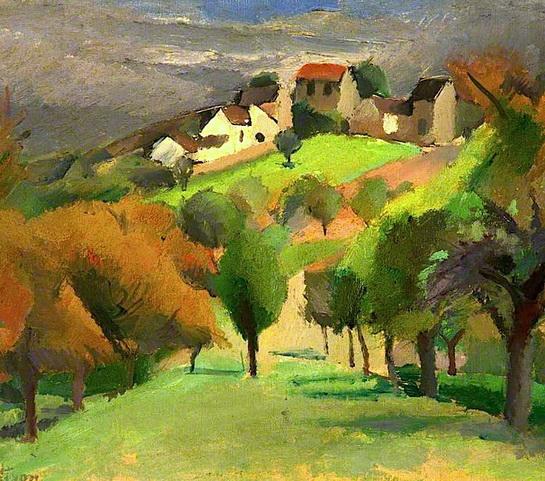 Robert Lotiron - Landscape with Village