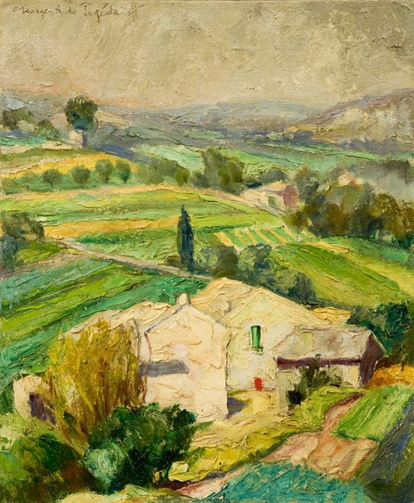 Georges Pogedaieff - Paysage du Luberon