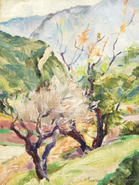 Georges Pogedaieff - Paysage en Provence Huile