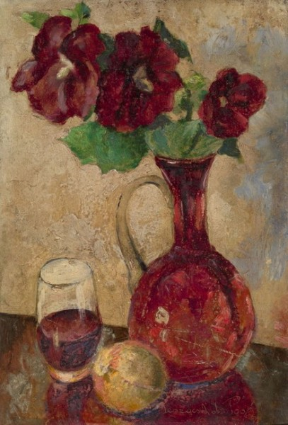 Georges Pogedaieff - Still Life with Roses