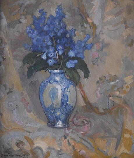 Stefan Filipkiewicz - Larkspurs in a vase