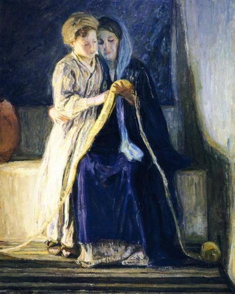 Henry Ossawa Tanner - Cristo y su Madre estudio