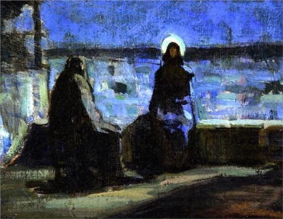 Henry Ossawa Tanner - Study for Nicodemus Visiting Jesus