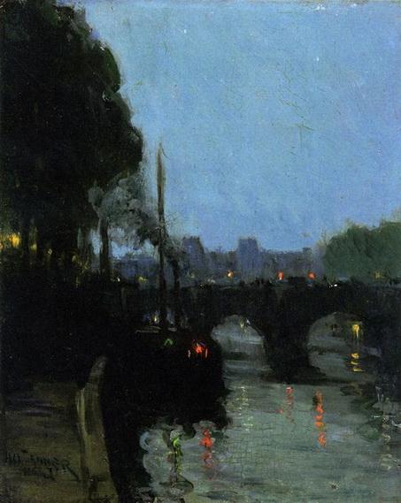 Henry Ossawa Tanner - The Seine - Evening