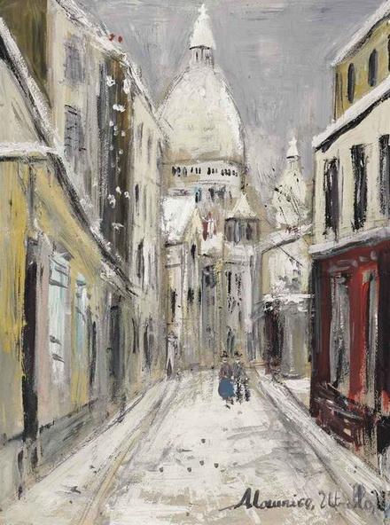 Maurice Utrillo -  Sacre-Coeur en hiver
