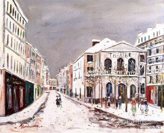 Maurice Utrillo -  The Theatre De L'atelier