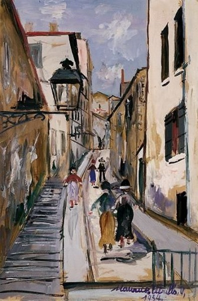 Maurice Utrillo -  LA MONTEE DES EPIES A SAINT-JUST