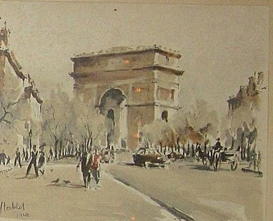 Franz Herbelot - drawings of Paris
