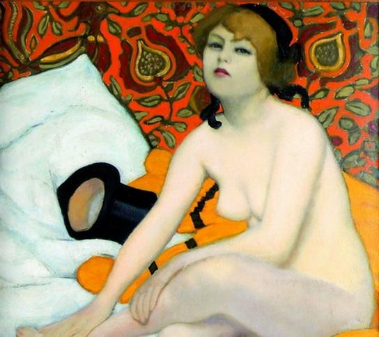 Armand Rassenfosse - Le Peignoir Jaune