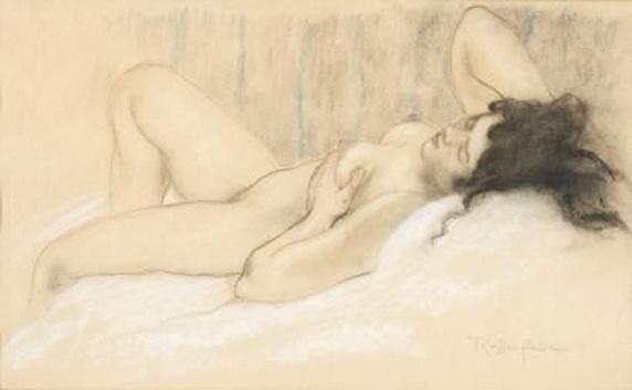 Armand Rassenfosse - Nu couche