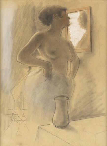 Armand Rassenfosse - La femme au miroir