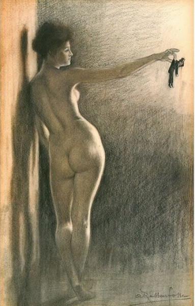 Armand Rassenfosse - La Femme et le Pantin