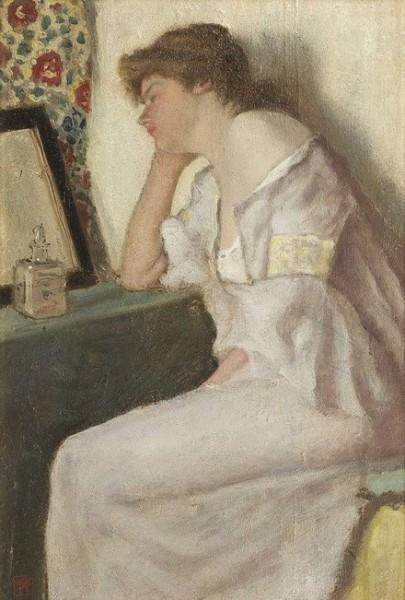 Armand Rassenfosse - Femme pensive