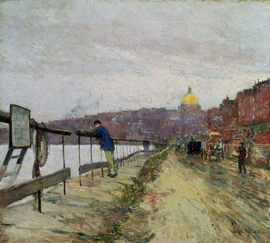 Childe Hassam - Charles River and Beacon Hill