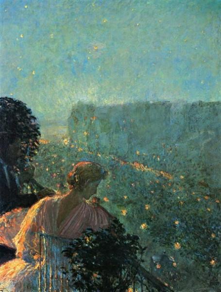 Childe Hassam - Summer Evening in Paris