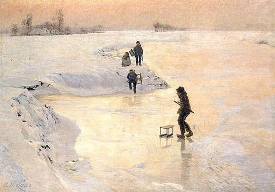 Emile Claus - De ijsvogels